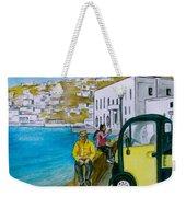 Greek Island Of Mykonis Weekender Tote Bag