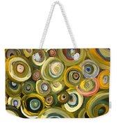 Green Abstract Feeling Weekender Tote Bag