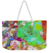 Green Abstract Rose Weekender Tote Bag