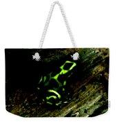 Green And Black Poison Dart Frog Weekender Tote Bag