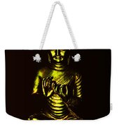 Green And Gold Buddha Weekender Tote Bag
