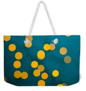 Green Background With Gold Dots  Weekender Tote Bag