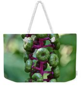 Green Buttons Weekender Tote Bag