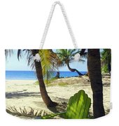 Green Chair On The Beach Weekender Tote Bag