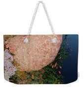Green Coral With Red Fish And Pink Weekender Tote Bag