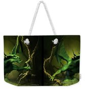Green Dragon - Gently Cross Your Eyes And Focus On The Middle Image Weekender Tote Bag