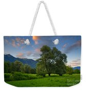 Green Field With Trees Weekender Tote Bag