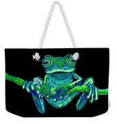 Green Ghost Frog Weekender Tote Bag