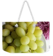 Green Grapes And Purple Mum Weekender Tote Bag