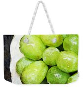 Green Grapes On A Plate Weekender Tote Bag