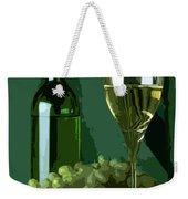 Green Is White Weekender Tote Bag
