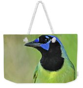 Green Jay Portrait Weekender Tote Bag