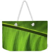 Green Leaf, Close-up Weekender Tote Bag