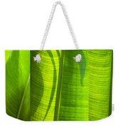 Green Leaf Weekender Tote Bag by Setsiri Silapasuwanchai