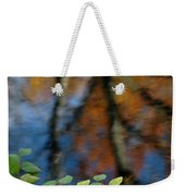 Green Leaves And Autumn Reflection Weekender Tote Bag