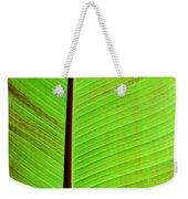 Green Lines Weekender Tote Bag