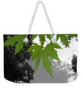Green Maple Leaves Weekender Tote Bag