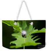 Green Oak Leaf And Flower Weekender Tote Bag