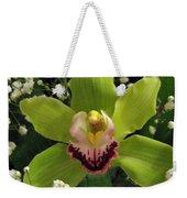 Green Orchid In Baby's Breath Weekender Tote Bag