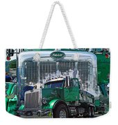 Green Peterbilt Dbl. Exposure Weekender Tote Bag
