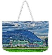 Green Roofed Barn-hdr Weekender Tote Bag