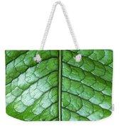 Green Scaly Leaf Pattern Weekender Tote Bag