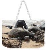 Green Sea Turtle With Gps Weekender Tote Bag