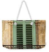 Green Shutters And Balcony In Verona Weekender Tote Bag