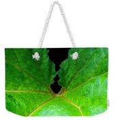 Green Spider Leaf Weekender Tote Bag