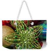 Green Star Christmas Ornament Weekender Tote Bag
