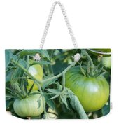 Green Tomato On The Vine Weekender Tote Bag