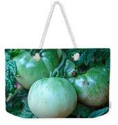 Green Tomatoes On The Vine Weekender Tote Bag