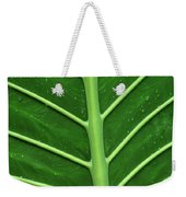 Green Veiny Leaf 1 Weekender Tote Bag