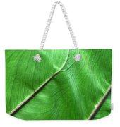 Green Veiny Leaf 2 Weekender Tote Bag