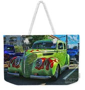 Green With Flames Hdr Weekender Tote Bag