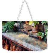 Greenhouse With Flowerpots Weekender Tote Bag