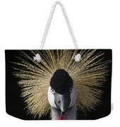 Grey Crowned Crane Balearica Regulorum Weekender Tote Bag