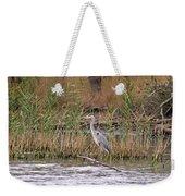 Grey Heron Weekender Tote Bag