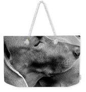 Grey Weim Weekender Tote Bag
