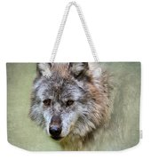 Grey Wolf Portrait Weekender Tote Bag