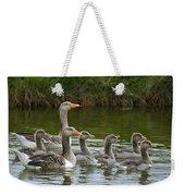 Greylag Goose Anser Anser Couple Weekender Tote Bag