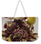 Griiled Fresh Greek Octopus Weekender Tote Bag by David Smith