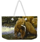 Grizzly Bear And Cubs Weekender Tote Bag