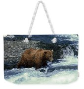 Grizzly Bear Fishing Weekender Tote Bag