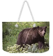 Grizzly Bear In Yellowstone Neg.28 Weekender Tote Bag