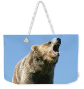 Grizzly Bear Vocalizing Weekender Tote Bag