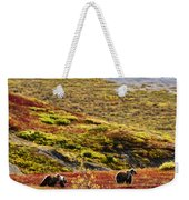 Grizzly Bears And Fall Colours, Denali Weekender Tote Bag