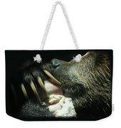Grizzly Eating Weekender Tote Bag