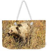 Grizzly In The Brush Weekender Tote Bag