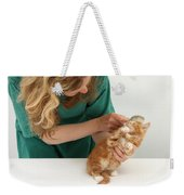Grooming A Kitten Weekender Tote Bag
